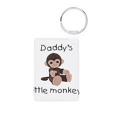 Daddy's little monkey (brown) Keychains