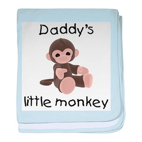 Daddy's little monkey (brown) baby blanket