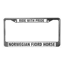Pride Norwegian Fjord Horse License Plate Frame