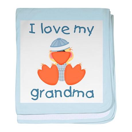 I love my grandma (baby boy d baby blanket