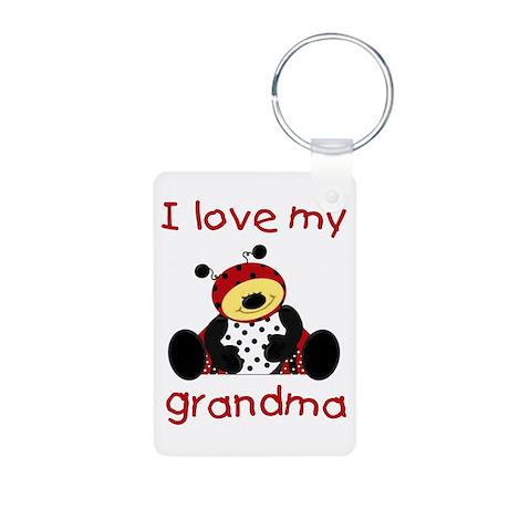 I love my grandma (boy ladybu Aluminum Photo Keych