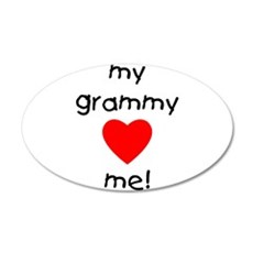 My grammy loves me 22x14 Oval Wall Peel