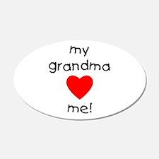 My Grandma Loves Me Wall Decal