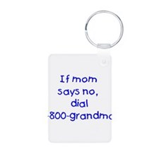 If mom says no...(blue) Keychains