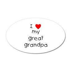 I love my great grandpa Wall Decal