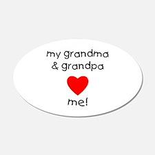 My Grandma & Grandpa Love Me Wall Decal