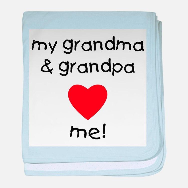 My grandma & grandpa love me baby blanket
