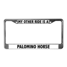 Palomino Horse License Plate Frame