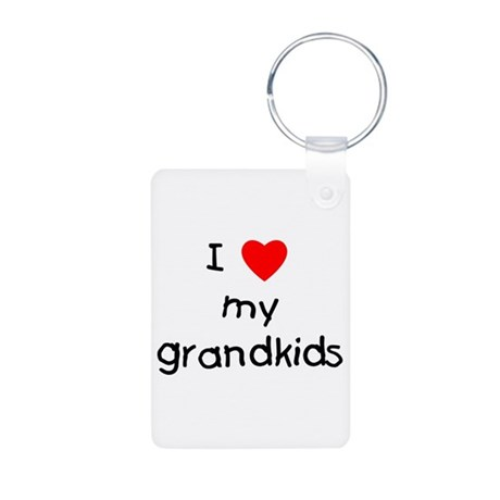 I love my grandkids Aluminum Photo Keychain