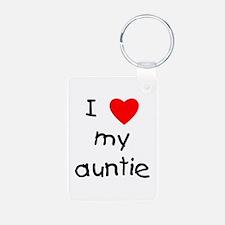 I Love My Auntie Keychains Keychains