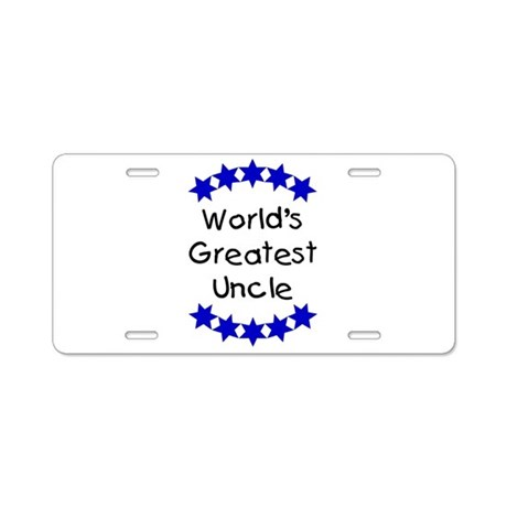 World's Greatest Uncle Aluminum License Plate