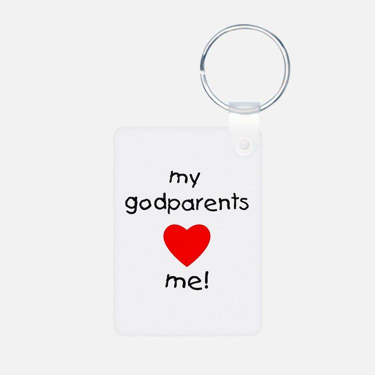 My Godparents Love Me Aluminum Photo Keychains