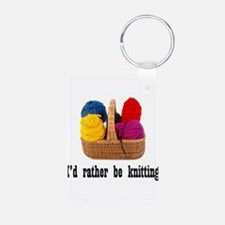 I'd rather be knitting Keychains