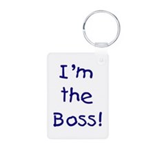 I'm the Boss! (blue) Keychains