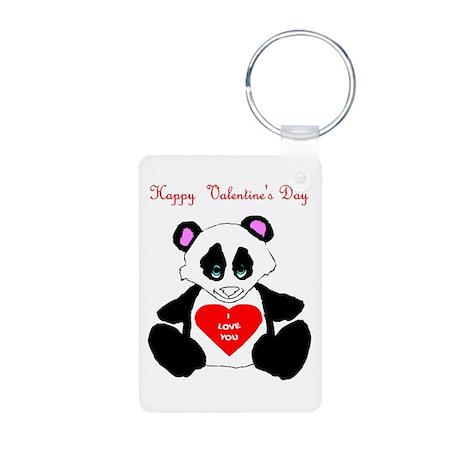 Happy Valentine's Day (panda) Aluminum Photo Keych