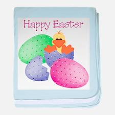 Happy Easter (ducky/easter eg baby blanket