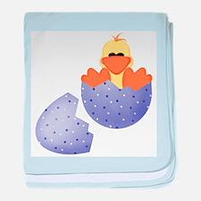 Baby Duck in Easter Egg baby blanket