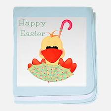 Happy Easter (ducky in umbrel baby blanket