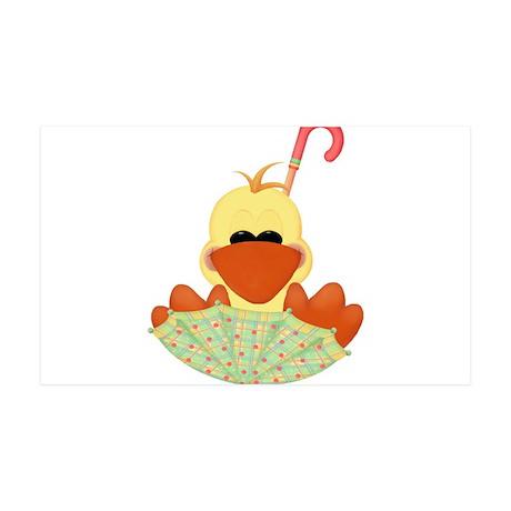 Ducky in Umbrella 38.5 x 24.5 Wall Peel