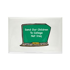 College, Not Iraq Rectangle Magnet (10 pack)