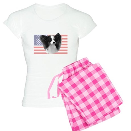 Tri Color Papillon w/ U Women's Light Pajamas