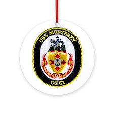 USS Monterey CG 61 Ornament (Round)