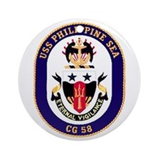 USS Philippine Sea CG 58 Ornament (Round)