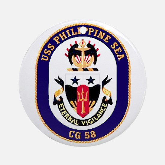 USS Philippine Sea CG 58 Ornament (Round)