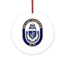 USS Lake Champlain CG 57 Ornament (Round)