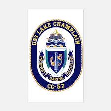 USS Lake Champlain CG 57 Rectangle Decal