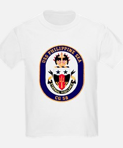 USS Philippine Sea CG 58 Kids T-Shirt
