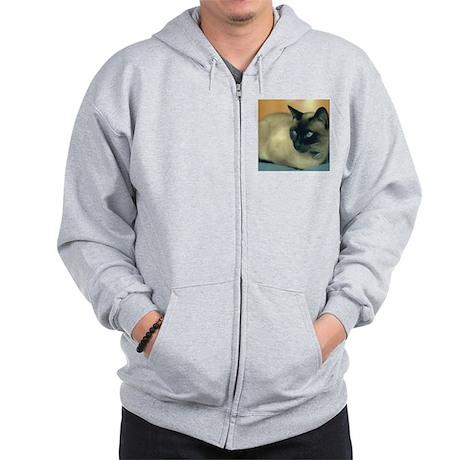 Siamese Cat Zip Hoodie
