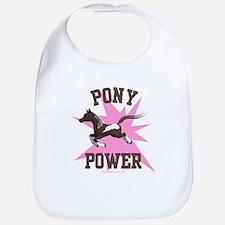Pony Power - Pink Bib