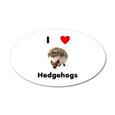I Love Hedgehogs Wall Decal