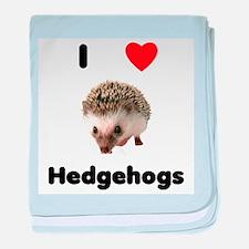 I Love Hedgehogs baby blanket