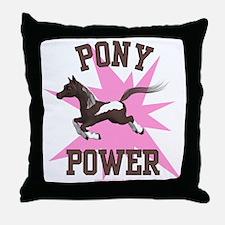 Pony Power - Pink Throw Pillow