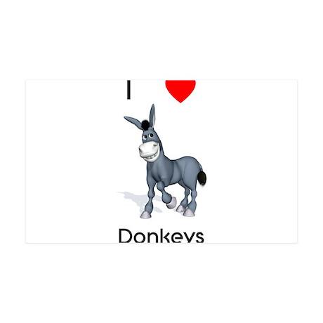 I love donkeys 38.5 x 24.5 Wall Peel