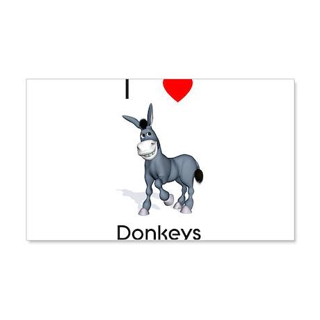 I love donkeys 22x14 Wall Peel