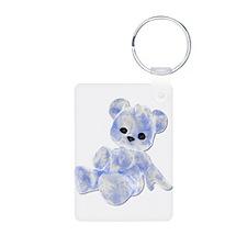 Blue & White Teddy Bear Keychains