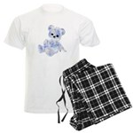 Blue & White Teddy Bear Men's Light Pajamas