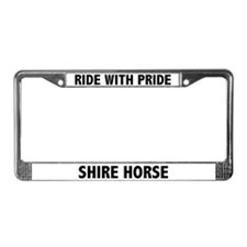 Ride With Pride Shire Horse License Plate Frame