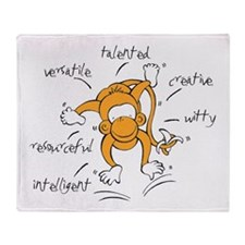 Chinese Birth Sign - Monkey - Throw Blanket