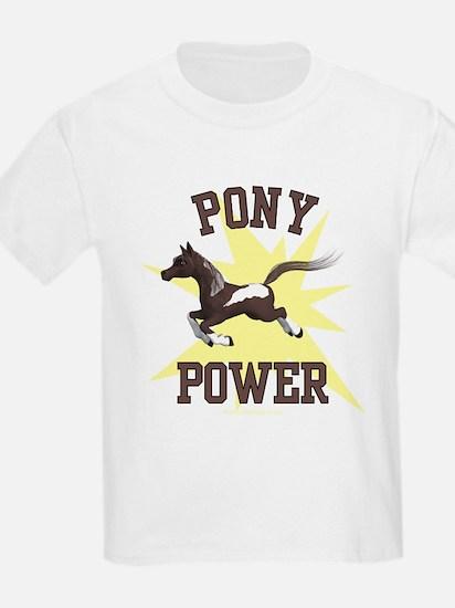Pony Power - Yellow Kids T-Shirt