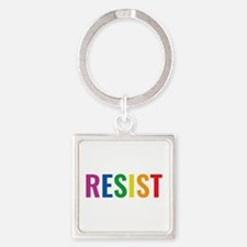 Glbt Resist Square Keychain