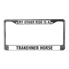 Trakehner Horse License Plate Frame