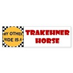 My Other Ride Is A Trakehner Horse Bumper Sticker