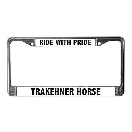Pride Trakehner Horse License Plate Frame