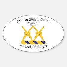 1st Bn 20th Infantry Sticker (Oval)