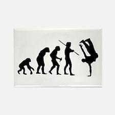 Breakdance evolution Rectangle Magnet
