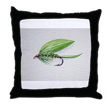 Cute Fly fishing Throw Pillow